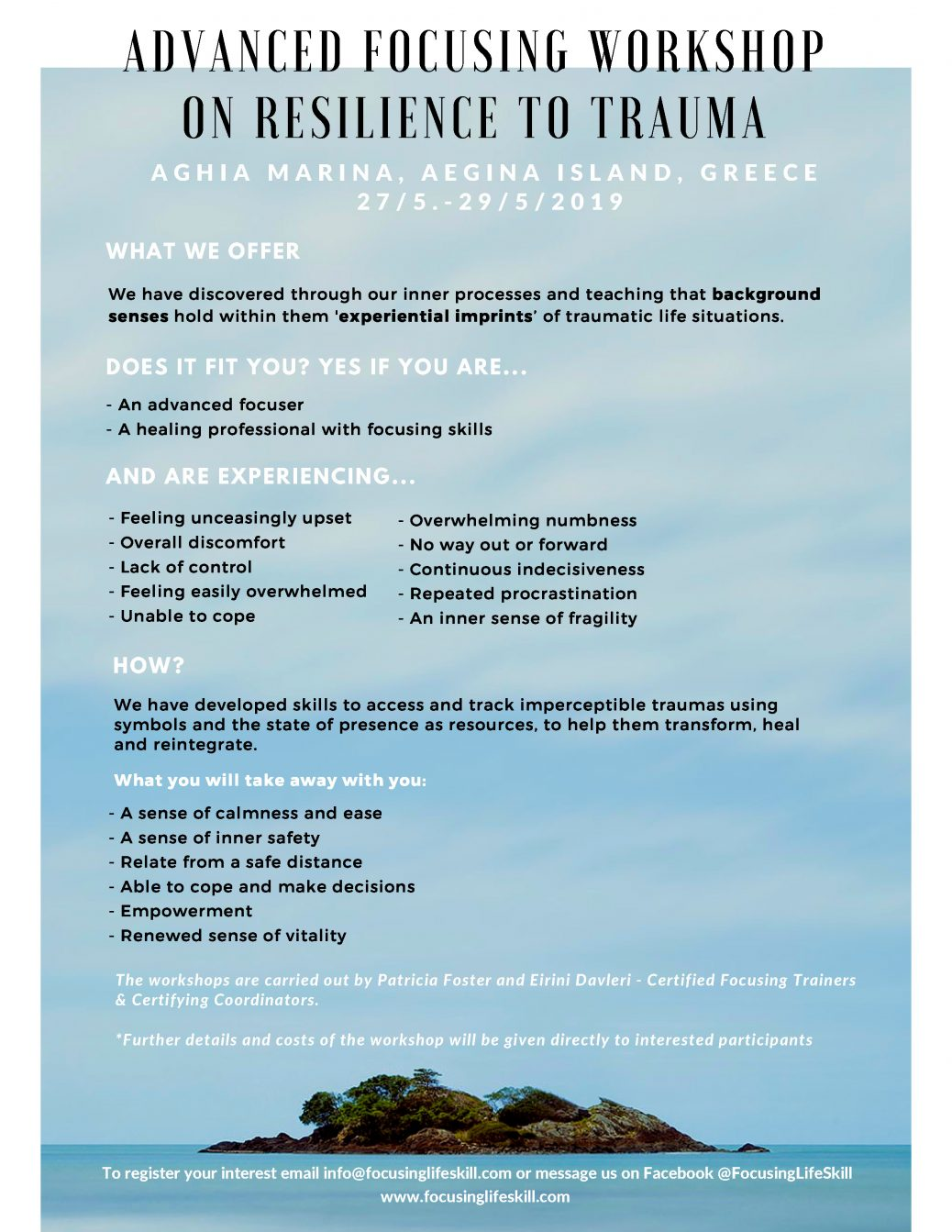 Advanced Focusing Workshop on Resilience to Trauma | EFA Networking