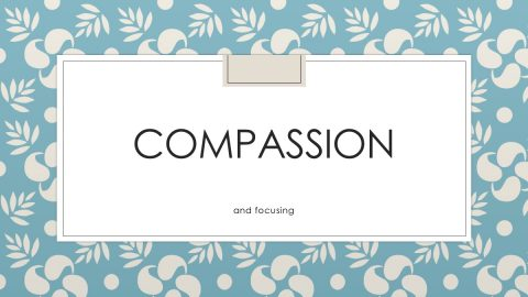 Power Point Compassion and Focusing by Marieke Hoeve
